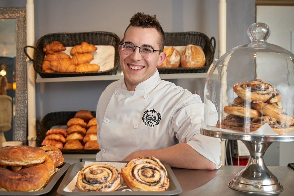 Chef Alix Loiselle of La Belle Baguette photographed by Winnipeg Commercial photographer Ian McCausland