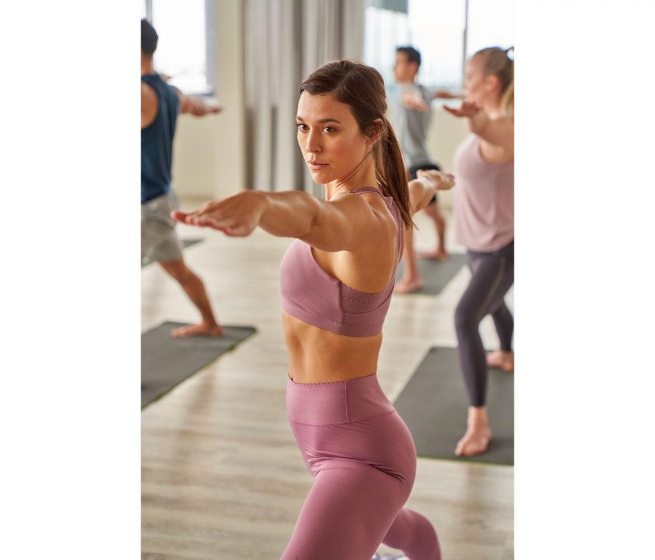 Yoga wear photographed on location at Altea Active in Winnipeg.